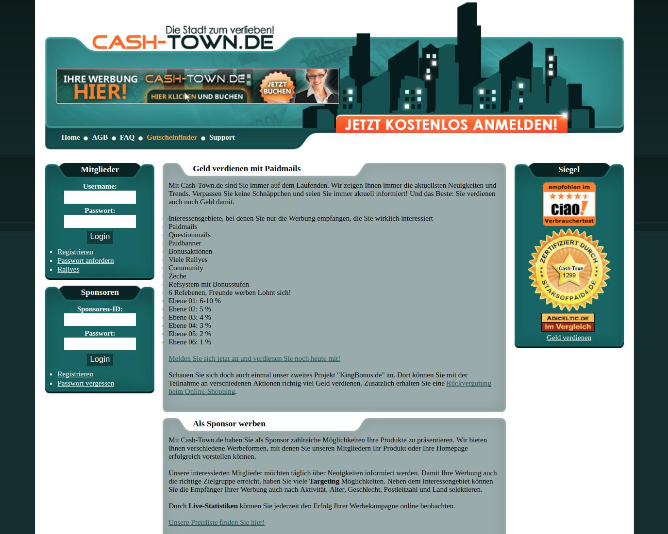 Paidmailer Cash-Town